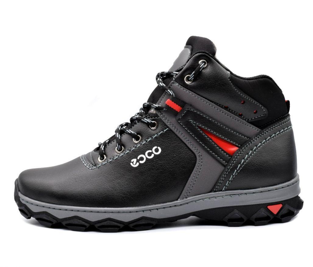 Ботинки кроссовки зимние мужские кожа PU 43 размер