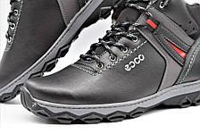 Ботинки кроссовки зимние мужские кожа PU 43 размер, фото 3