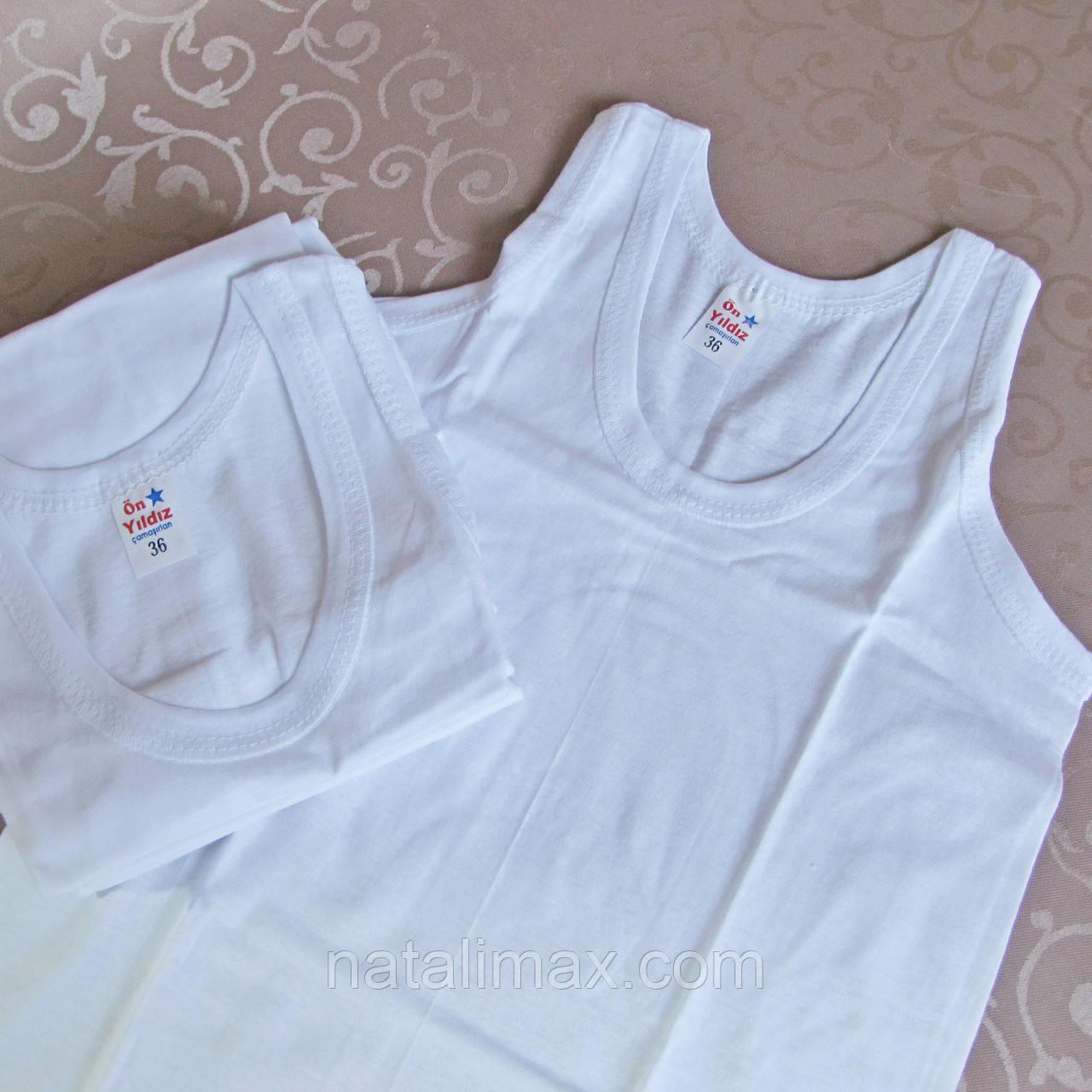 Майка белая бельевая для мальчика- РОСТОВКА - 6 шт.  Турция.  Купить майки, футболки, белье
