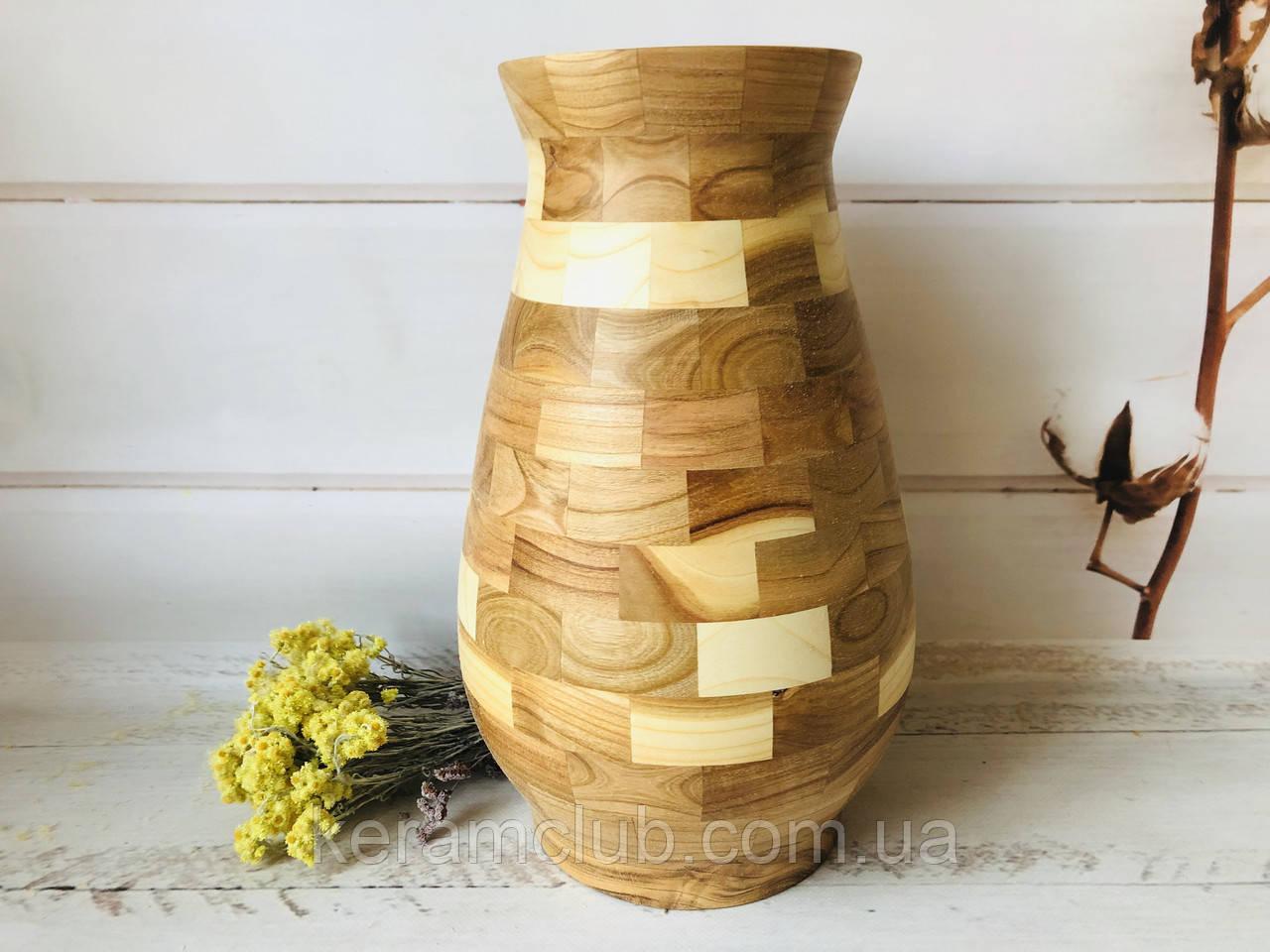 Деревянная ваза из берёзы h 34 см