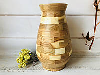 Деревянная ваза из берёзы h 34 см, фото 1