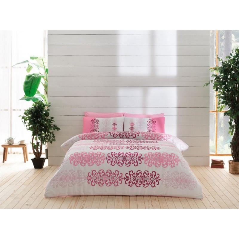 Постельное белье Tac ранфорс - Despina pembe розовый евро