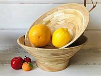 Деревянная фруктовница h 10 см d 27 см, фото 1