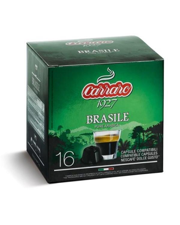 Кофе в капсулах Carraro Dolce Gusto Brasile 16 шт. (Дольче Густо Бразилия) Италия
