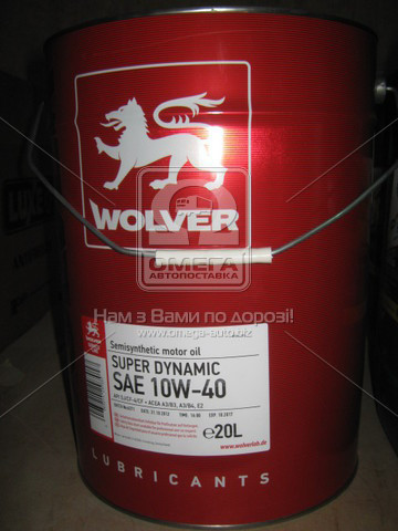 Масло моторное Wolver  Super Dynamic SAE 10W-40 API SJ/CF-4 (Канистра 60л)