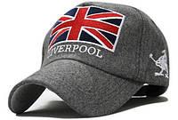 Модель №57 Шерстяная кепка Liverpool. Бейсболка утепленная