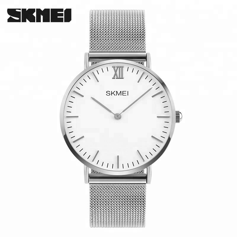 Skmei 1181 large серебристые мужские часы