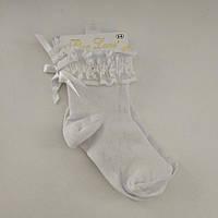 Детские хлопковые носки с рюшами нарядные для девочки, р. 5-6 лет (Турция)