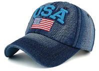 Модель №195 Джинсовая кепка USA. Бейсболка United States