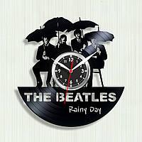 The Beatles Rainy Day Часы Битлз Музыкальная пластина Винил Часы рок-группа Кварцевый механизм Белые стрелки