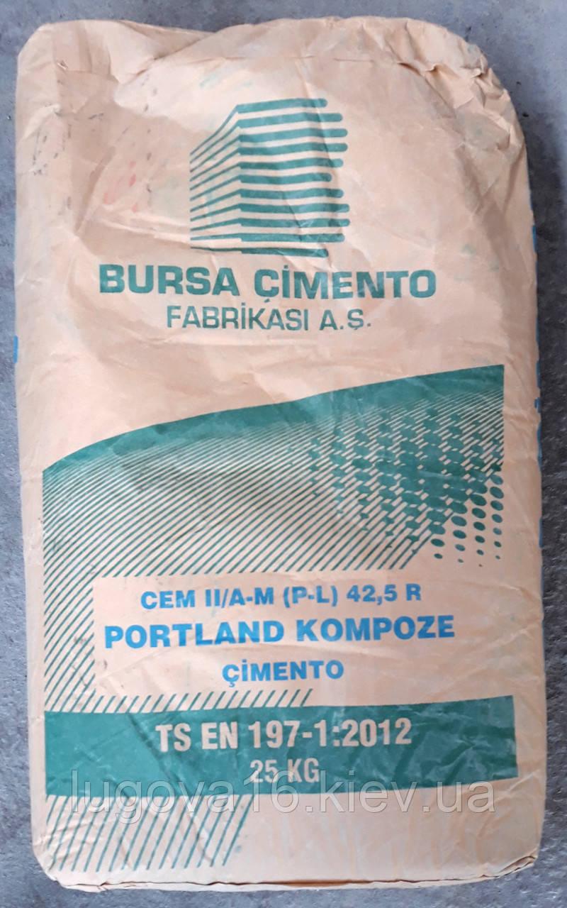 Цемент серый Portland Cement CEM II/A 42,5 R (М500 Д20) (Bursa Cimento), Turkey, 25кг