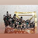 Зелена з чорним діадема (7см), фото 7
