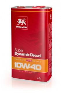 Масло моторное Wolver Super Dynamic  Diesel SAE 10W-40 API CF (Канистра 1л)