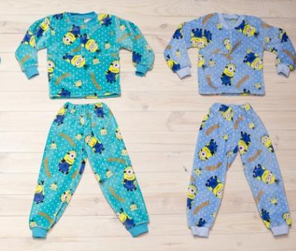 Детская махровая пижама, Украина, Детки- Текс, рр. 86-92,92-98, арт. 2672,