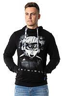 Молодежный джемпер, свитшот XXL. Украина. Светится в темноте. Мужской свитер для высоких, стройных
