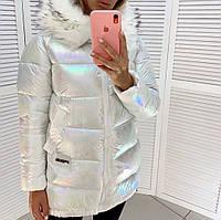 Куртка зимняя стильная с опушкой + (3 цвета)