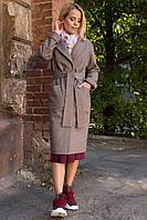 Качественное демисезонное  пальто миди Тала 7902, фото 1