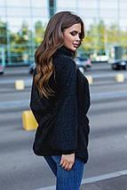 """Ангоровый женский свитер-туника """"GG"""" с поясом в комплекте (3 цвета), фото 3"""