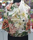 10266-2, павлопосадский платок (жаккард) шелковый с подрубкой, фото 9