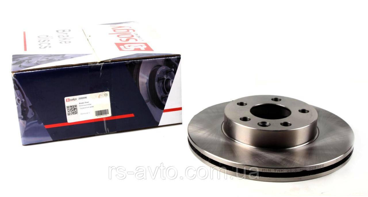 Диск тормозной (передний) VW T4 1.9D/2.5TDI 90-03 (280x24) 208006