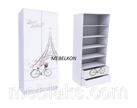 Шкаф с двумя ящиками (вверх для белья) 80 см. Mebelkon, фото 2