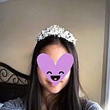 Tiffany - Ніжний віночок діадема срібного кольору (4,5см), фото 5