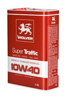 Масло моторное Wolver Super Traffic SAE 10W-40 API SJ/CF-4 (Бочка 4л)