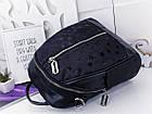Женский рюкзак-сумка черного цвета, из эко кожи, фото 3