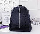 Женский рюкзак-сумка черного цвета, из эко кожи, фото 2