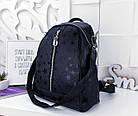 Женский рюкзак-сумка черного цвета, из эко кожи, фото 4