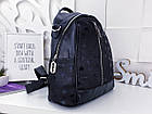 Женский рюкзак-сумка черного цвета, из эко кожи, фото 5