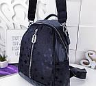 Женский рюкзак-сумка черного цвета, из эко кожи, фото 10