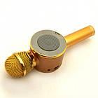 Портативный караоке-микрофон WS668 Gold с подсветкой. Bluetooth караоке микрофон, фото 5