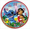 Часы настенные Лола и Стич