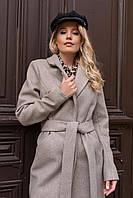 Полуприталенное пальто миди Мехико 6356, фото 1