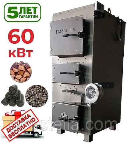 Твердотопливный котел 60 кВт DM-STELLA (двухконтурный), фото 2