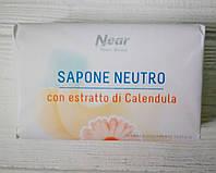 Мыло туалетное с экстрактом календулы Near Sapone Neutro con estratto ds Calendula 125гр (Италия)