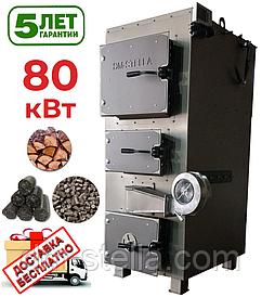 Твердотопливный котел 80 кВт DM-STELLA (двухконтурный)