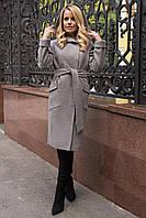 Удлиненное брендовое пальто с капюшоном Анджи 7819, фото 1