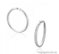 Серебряные серьги кольца Колечки