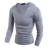 Свитшот, кофта мужская с капюшоном серый M, L, XL, XXL код 83