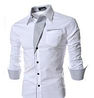Сорочка чоловіча приталена M, L, XL, XXL ( біла)