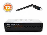 World Vision T62A SE + Wi-Fi  цифровой эфирный тюнер DVB-T/Т2/C, фото 1