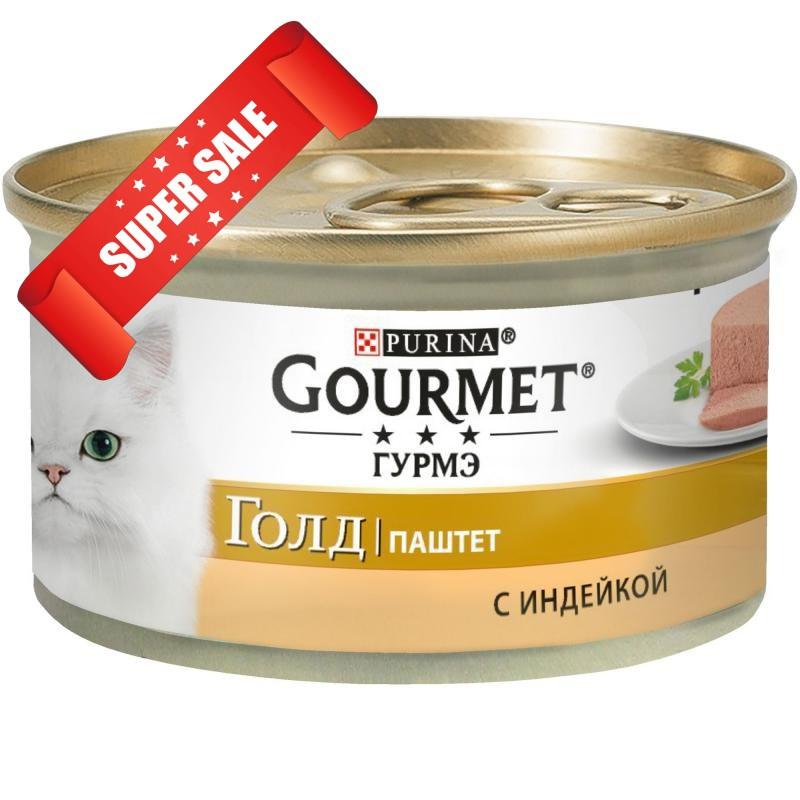 Влажный корм для кошек Purina Gourmet Gold Паштет с тунцом 85 г