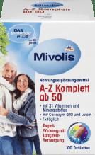 Вітамінний комплекс A-Z Komplett ab 50 Tabletten, 100 St