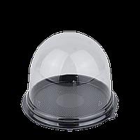 Упаковка с крышкой черная для маффина/макарун,110х82мм(внутренние размеры 90x80мм)(65шт в уп.), фото 1