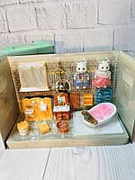 Набор мебели для Ванной Комнаты с фигурками героев Sweet family - аналог Sylvanian Families 1604