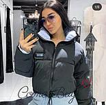 Женская короткая объемная куртка на молнии с воротником стойкой vN3474, фото 5