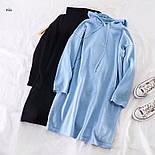 Женское платье - худи из двухнитки с капюшоном vN3484, фото 2