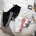 Женские спортивные штаны на манжетах с лампасами vN3491, фото 2